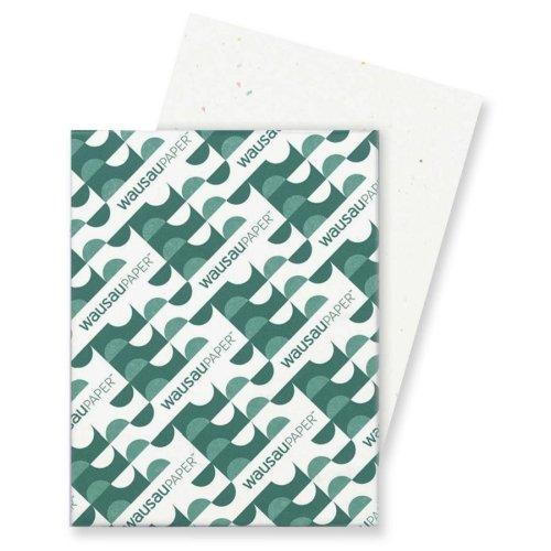 """Wholesale Case Of 10 - Wausau Heavyweight Cardstock Paper -Card Stock Paper, 65 Lb., 8-1/2""""X11"""", Stardust White"""