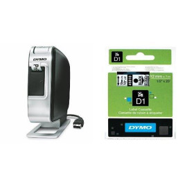 """Dymo Labelmanager Plug N Play Label Maker (1768960) + 2 Bonus Rolls Of 1/2"""" Clear Tape With Black Print"""