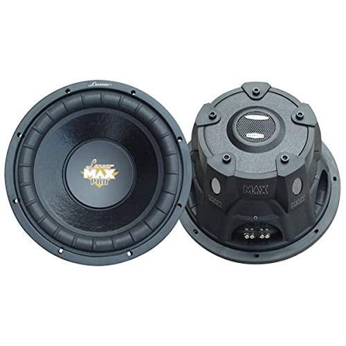 Lanzar 10In Car Subwoofer Speaker - Black Non-Pressed Paper Cone, Stamped Steel Basket, Dual 4 Ohm Impedance, 1200 Watt Power And Foam Edge Suspension For Vehicle Audio Stereo Sound System - Maxp104D
