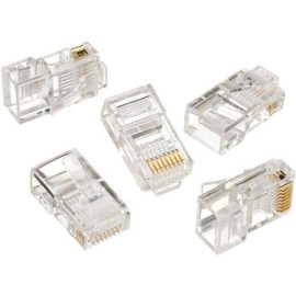 Ideal Industries 85-396 Telcom - Network Connector - Rj-45 (M), Clear