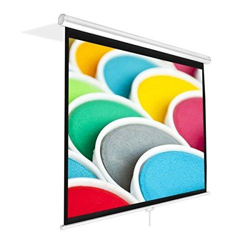 """Pyle Prjsm9406 Universal 84-Inch Roll-Down Pull-Down Manual Projection Screen (50.3"""" X 67.3"""") Matte White"""