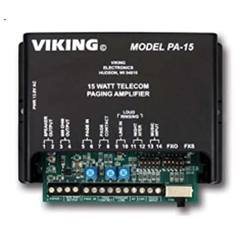 Viking 15 Watt Paging Amplifier And Loud Ringer (Pa-15)