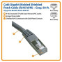 Tripp Lite Cat6 Gigabit Molded Shielded Patch Cable (Rj45 M/M) - Gray, 50-Ft.(N125-050-Gy)