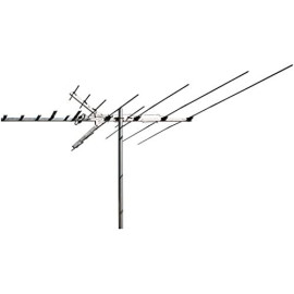 """Rca Outdoor Long-Range Hdtv Yagi Antenna With 100+ Mile Range, 66"""" Length Boom And Optional Low-Vhf Extension Elements"""