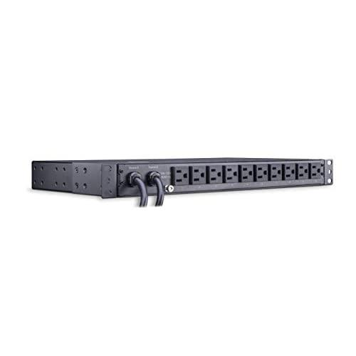 Cyberpower Pdu15M10At Metered Ats Pdu, 100-120V/15A, 10 Outlets, 1U Rackmount