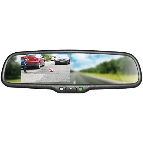 """Boyo Vtm43M - Replacement Rear-View Mirror With 4.3"""" Tft-Lcd Backup Camera Monitor"""