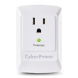 Cyberpower Csb100W Essential Surge Protector, 900J/125V, 1 Outlet, Wall Tap