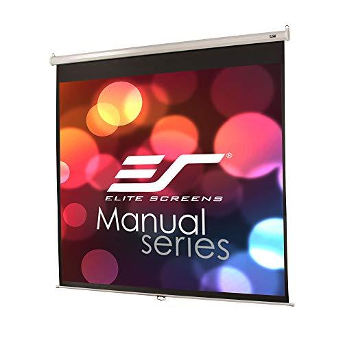 Elite Screens Manual Series, 99-Inch 1:1, Pull Down Manual Projector Screen With Auto Lock, Movie Home Theater 8K / 4K Ultra Hd 3D Ready, 2-Year Warranty, M99Nws1