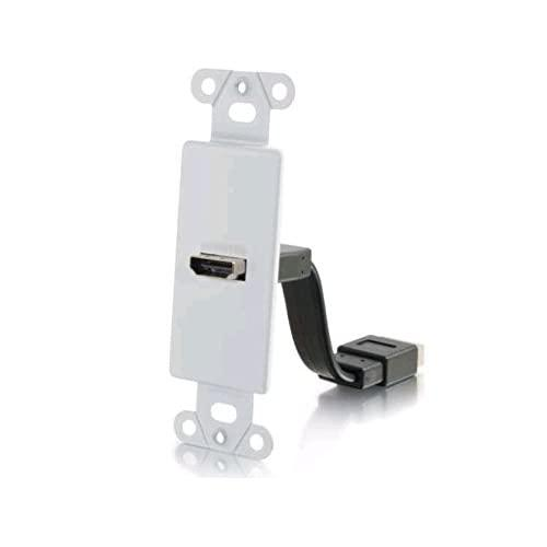 C2G/Cables To Go 39710 Hdmi Pass Through, Insert Plate For Decorative Wall Plate - White