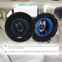 """6.5"""" Three-Way Sound Speaker System - 180 W Rms/360W Power Handling W/ 4 Ohm Impedance And 3/4'' Piezo Tweeter For Car Component Stereo, Round Shaped Pro Full Range Triaxial Loud Audio - Pyle Pl63Bl"""