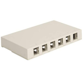Icc Surface Mount Box With 6 Ports, White