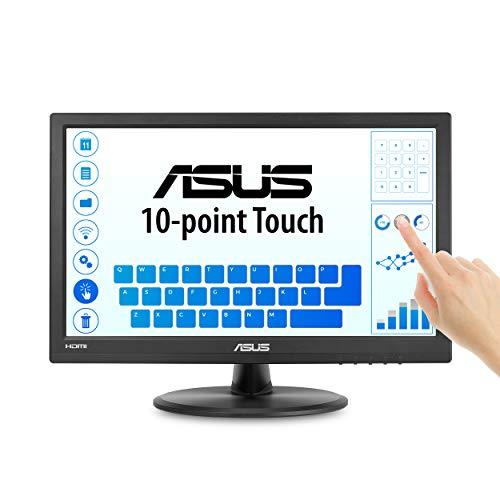 """Asus Vt168H 15.6"""" 1366X768 Hdmi Vga 10-Point Touch Eye Care Monitor, 15.6-Inch"""