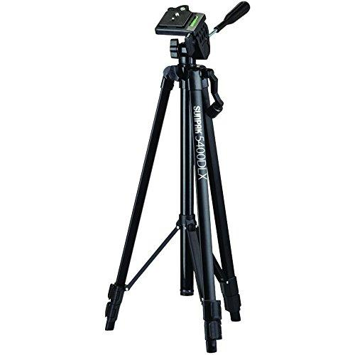 Sunpak 5400Dlx Tripod With 3-Way, Pan-And-Tilt Head For Cameras, Camcorders, Smartphones And Gopro