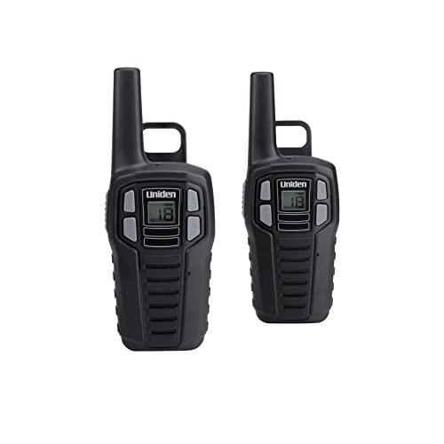 Uniden Sx167-2Ch Up To 16 Mile Range, Frs Two-Way Radio Walkie Talkies, Rechargeable Batteries With Convenient Charging Cable, Noaa Weather Channels, Roger Beep, 2-Pack Black Color