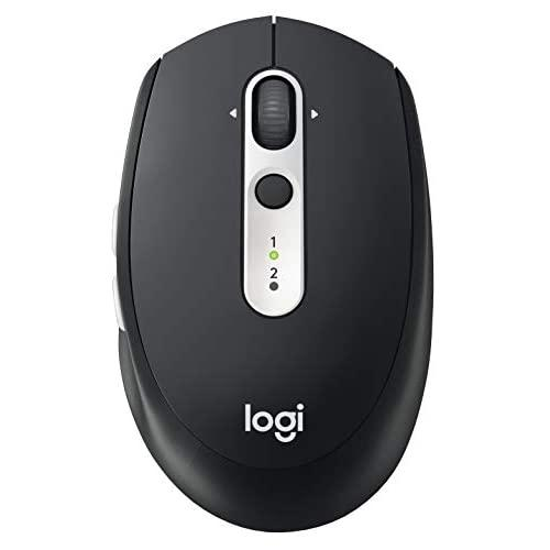 Logitech M585 Multi-Device Wireless Mouse - Control And Move Text/Images/Files Between 2 Windows And Apple Mac Computers And Laptops With Bluetooth Or Usb, 2 Year Battery Life, Graphite