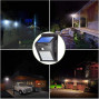 Untech Solar Lights Outdoor, 20 LED Wireless Motion Sensor Lights, IP65 Waterproof Wall Light Easy-to-Install Security Lights for Outdoor Garden, Patio, Yard, Deck, Garage, Driveway, Fence 2 Pack