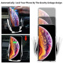 Un-Tech Qi Wireless Car Charger Mount Automatic Clamping Dashboard Air Vent Gravity Sensor Phone Holder for iPhone X/Xs MAX/XS/XR/X/8/8+,Samsung S10/S10+/S9/S9+/S8/S8+ (with Suction Base Stand)