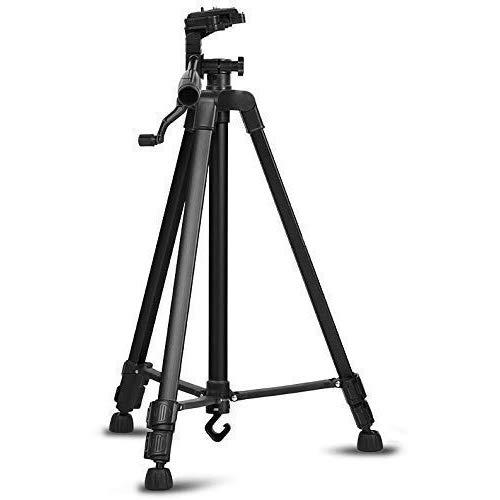 Un-Tech Portable Phone Live Selfie 3366 Tripod Stand DV SLR Camera Self-Timer Full Light Bracket (Black)