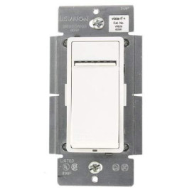 Leviton Vre06-1Lz Vizia Rf + 600W Electronic Low Voltage Scene Capable Dimmer, White/Ivory/Light Almond, Works With Alexa