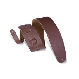 """3 1/2"""" Wide Brown Garment Leather Bass Strap / Brown"""