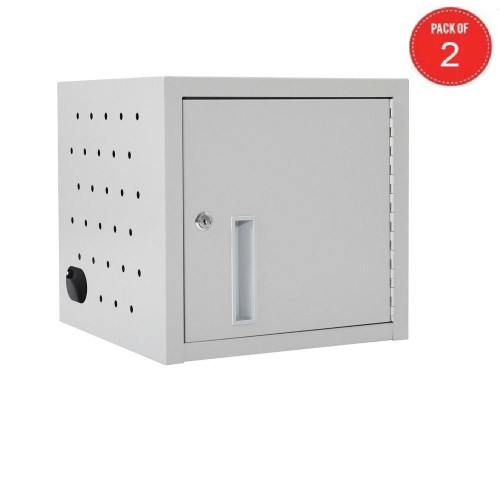 Luxor Home Office 12 Capacity Secure Tablet Vertical Wall Desktop Charging Box (Pack Of 2)