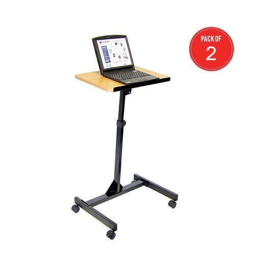 Luxor Lx9128 Adjustable Height Presentation Mobile Lectern (Pack Of 2)