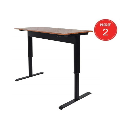 Luxor Pneumatic Adjustable Height Standing Desk (Pack Of 2)
