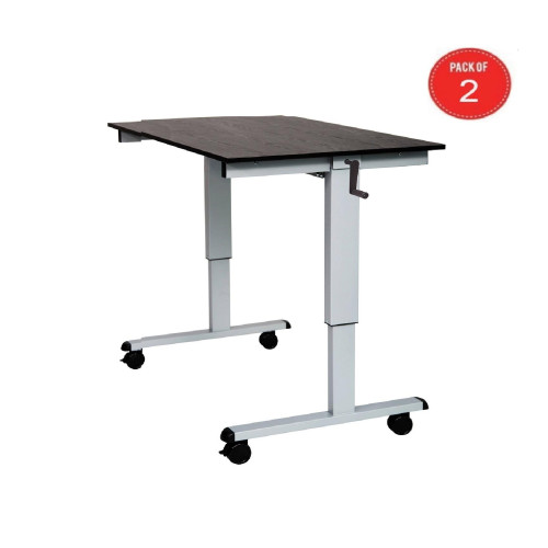 Sit Stand Desk With Crank Handle