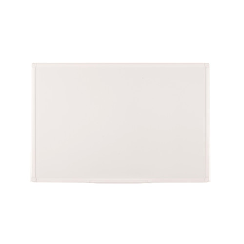 "Anti-Microbial Magnetic Steel Dry-Erase Board, 24"" X 36"", White Aluminum Frame"