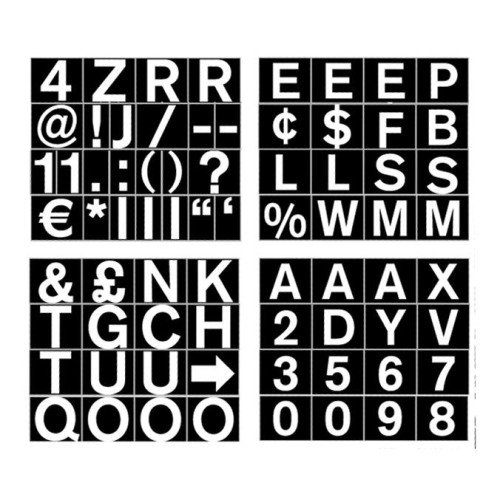 ".75"" Magnetic Set Of Letters, Numbers & Symbols"