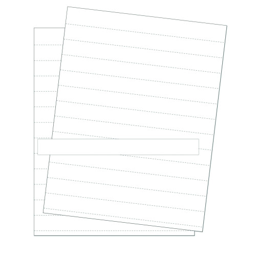 """Data Card Replacement Inserts, White, Accessories, 8.5"""" X 11"""" Sheet, Perforated Every 1"""", 10 Sheets"""