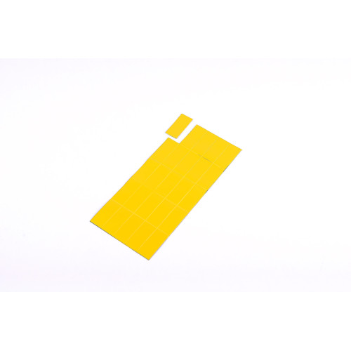 """Magnetic Dry-Erase Tape Strips, Yellow, Write-On Wipe-Off, 7/8"""" X 2"""", Pack Of 25"""