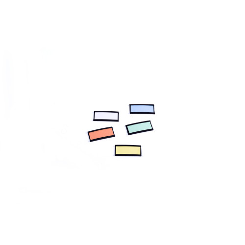"""Magnetic Data Cards, Black, Accessories, 3"""" X 1.75"""", 10 Pack"""