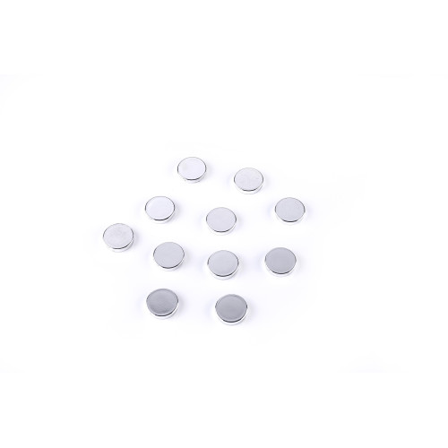 """Super Silver Magnets, 1"""" Diameter, Pack Of 10"""