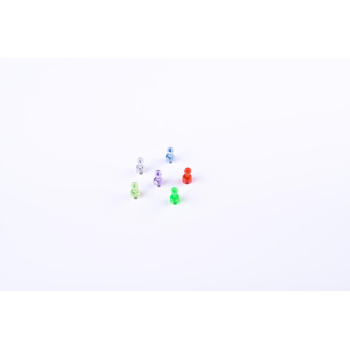 """Magnetic Push Pins, 3/4"""" Diameter, Assorted Colors, Red, Green, Yellow, Blue, White, Purple, Pack Of 6"""