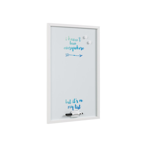 """Magnetic Dry-Erase Quote Travel Board 16"""" X 24"""" White Frame"""