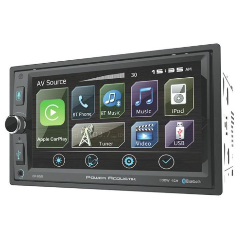 Power Acoustik Ow-Cp-650 Double-Din Receiver With Apple Car Play