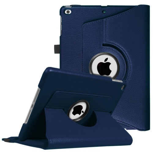 Apple Ipad Air 1St / A1474 / A1475 Tablet Pu Leather Folio 360 Degree Rotating Stand Case Cover Blue
