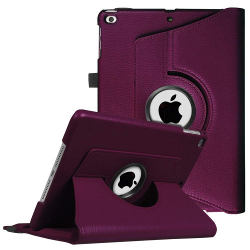 Apple Ipad Air 1St / A1474 / A1475 Tablet Pu Leather Folio 360 Degree Rotating Stand Case Cover Purple