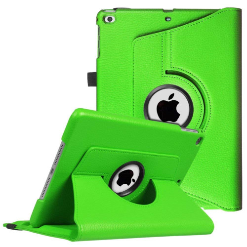 Apple Ipad Mini 4 / A1538 / A1550 Tablet Pu Leather Folio 360 Degree Rotating Stand Case Cover Green