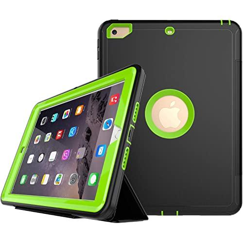 Apple Ipad Pro 9.7 Inch Heavy Duty Defender Shockproof Protective W. Leather Flip Folio Stand Case Cover