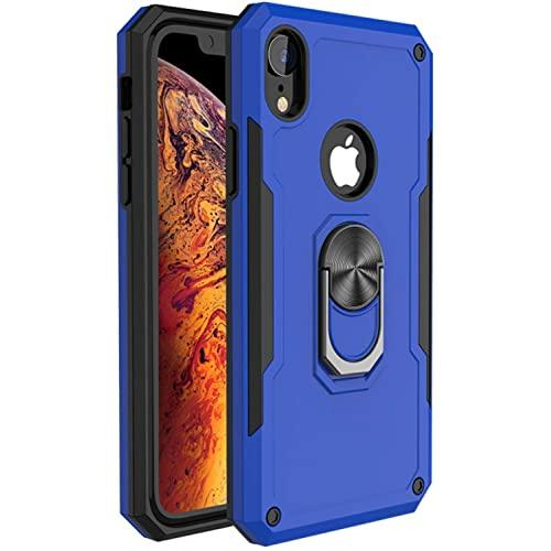 Apple Iphone Xs Max Magnetic Car Mount Hybrid Shockproof Tough Ring Stand Case Cover