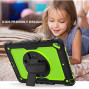 Apple Ipad Air 2Nd / A1566 / A1567 Shockproof Protective 360 Rotating Stand W. Strap Case Cover
