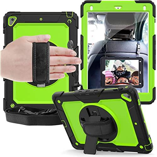 Apple Ipad Mini 4Th / Mini 5Th Generation Shockproof Protective 360 Rotating Stand W. Strap Case Cover