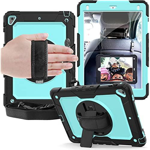 Apple Ipad Pro 9.7 Inch Shockproof Protective 360 Rotating Stand W. Strap Case Cover