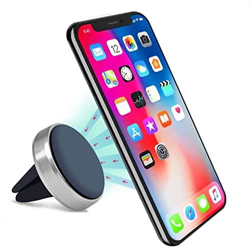 Universal 360 Air Vent Phone Magnetic Windshield Dashboard Suction Car Mount Holder Stand Silver