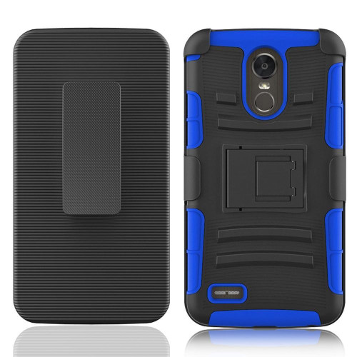 Lg Stylo 3 / Stylus 3 / Stylo 3 Plus / Ls777 protect Belt Clip Holster Case Cover Blue