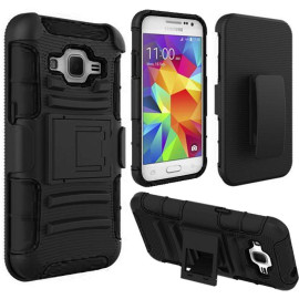Samsung Galaxy Core Prime Prevail Lte / G360 protect Belt Clip Holster Case Cover Black