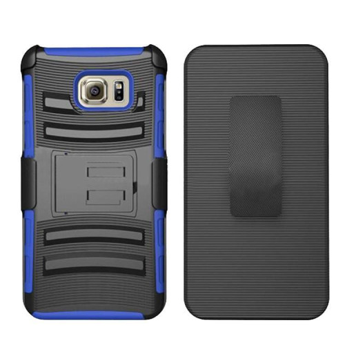 Samsung Galaxy S6 Edge Plus protect Belt Clip Holster Case Cover Blue