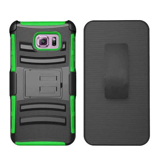 Samsung Galaxy S6 Edge Plus protect Belt Clip Holster Case Cover Green
